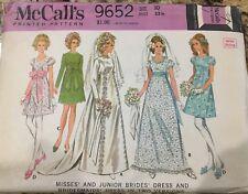Vintage 1960s Bridal Gown & Bridesmaids Dress Pattern Size 10 McCalls 9652