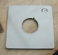 genuine MPP mk8 VIII lens board panel with copal 0 33mm hole
