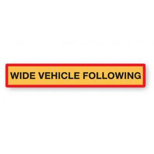 Wide Vehicle Following Marker Board Aluminium 1265x225mm