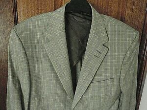 """NEW Paul Smith Collection Browns & Beige Check Cotton Formal Jacket  Size 40"""""""