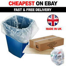More details for 100 x clear refuse sacks 140g large bin liners rubbish waste recycling bags 90l