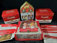 "Vintage Campbell's Soup w/Recipe's Tins Campbell's Kid's Clubhouse Tin 5"" Dolls"