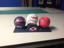 3 CLEVELAND INDIANS baseball. 1901-2001 jim thome. josh tomlin mike napoli