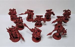 40K Chaos Space Marines- 10x Dark Vengeance Chosen Ic 3x Heroes. OOP