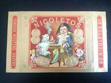 Image découpe publicitaire Chat Nicoletos cigares
