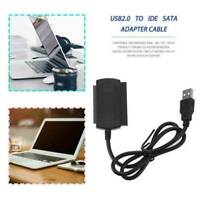 USB 2.0 to SATA/PATA/IDE Cable Power Adapter Converter For DVD Hard Disk Drive..