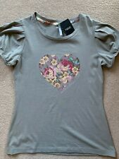 NEXT Floral Sequin Heart Detail Top - Size 12