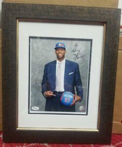 Greg Monroe Signed Framed Detroit Pistons Auto 8x10. JSA Certified. Rookie draft