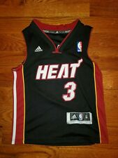 Adidas Miami Heat Youth Boys Embroidered Jersey #3 Dwayne Wade Size S NBA Basket