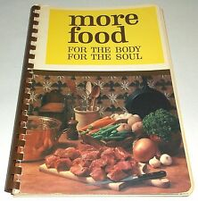 More Food For The Body Soul Moody Bible Institute Chicago Cookbook Prayers Hymns