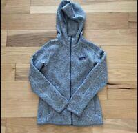 Patagonia Women's Better Sweater Hoody- Full-Zip Birch White (Gray)- Small EUC