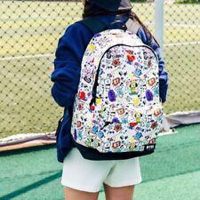 US Kpop BTS BT21 Cartoon Canvas Backpack TATA SHOOKY Schoolbag Travel Sports Bag