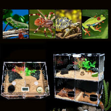 Pet Reptile Breeding Box Insect Spider Frog Feeding Tank Acrylic Cage Clear Case