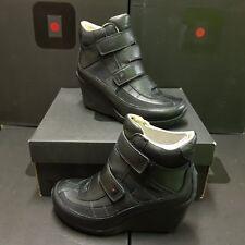 TSUBO Peary Strap women's boots compensé Cuir shoes US 5 UK 3,5 EUR 36 rrp:179€