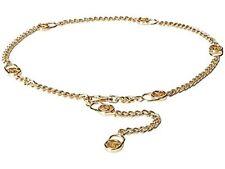 NWT $45 MICHAEL KORS MK GOLD LOCK CHAIN WOMENS BELT L/XL L XL 552507
