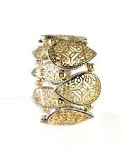 Gold and Silver Arabic Pattern FASHION Stretch Bracelet ( Stretchable )