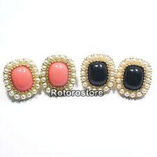 Pearl Stud Stone Costume Earrings