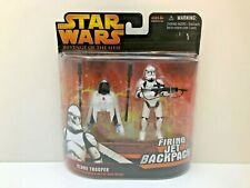 STAR WARS REVENGE OF THE SITH CLONE TROOPER Firing Jet Backpack Hasbro