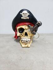 Skeleton Pirate Skull Wine Holder Halloween