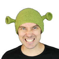 Unisex Balaclava Monster Shrek Wool Winter Knitted Hats Green Party Funny CO  Zy