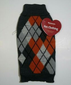 Dog Jumper Sweater Fashion Knitwear Pet Clothing Diamonds Warm Cosy Puppy