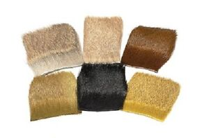 Veniard Deer Hair Short & Fine  COLOURS: Black/Natural Brown/Olive/Yellow