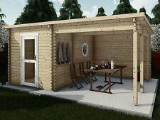 Saunahaus Garten-Sauna, Außensauna 5.1x3.6M 45mm Sauna Bamberg EB45007F28ISOL