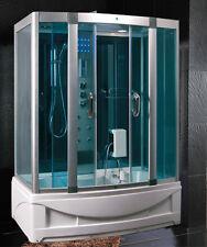 Box doccia Idromassaggio 150x90 cabina con Vasca Sauna Bagno Turco luci led |64