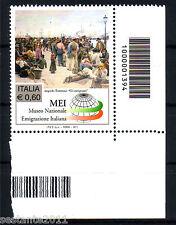ITALIA 2011 MUSEO EMIGRAZIONE CODICE A  BARRE 1394 MNH** 199M ANGOLO LEGGI TESTO