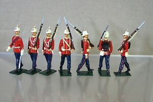 REPLICA MODELS PATRICK CAMPBELL VICTORIAN BRITISH LINE INFANTRY MARCHING x 7 mv