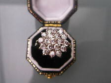 Women's 9ct Gold CZ Stone Cluster Ring Hallmarked Weight 2.4g Size O-Half