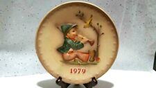 "Vintage Hummel 9th Annual 1979 Collector Plate, Goebel ""Singing Lessons"" w/stand"