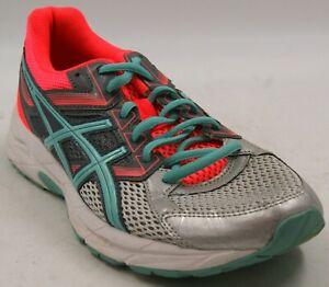ASICS GEL-Contend 3 Neon Orange/Silver/Aqua Women's Running Shoes Sz 8.5 M