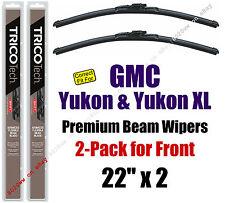 Wipers 2-Pack Premium Wiper Beam Blades - fit 2000+ GMC Yukon - 19220x2
