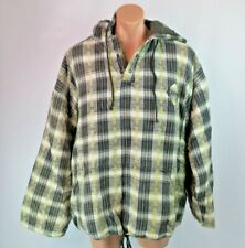 VTG 90s Rusty Surfboards Anorak Poncho Flannel Plaid Pullover Heavy Jacket Sz XL