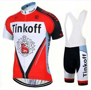 Tinkoff Short Sleeve Cycling Jersey Pants Clothing Team Bike Bicycle Summer