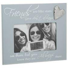 Friends Grey Photo Frame With Sentiment and Raised Heart Gift 271440