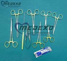 General Surgery Spay Pack 52 Pcs Set Of W/gold Handle Surgical Instruments