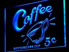 j148-b Coffee 5 cents Vintage Reporduction Neon Sign