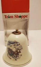 Vintage Konitz Germany Porcelain Music Box Christmas Bell Silent Night