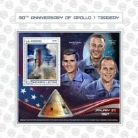 Sierra Leone - 2017 Apollo 1 Tragedy - Souvenir Sheet - SRL17502b