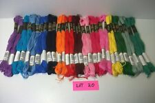 LOT 20 Iris cotton hand embroidery floss 6 strand/8mt/app 8 yds mixed color