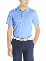 IZOD Men's Performance Golf Grid Short Sleeve Stretch Polo, Blue, Size Medium