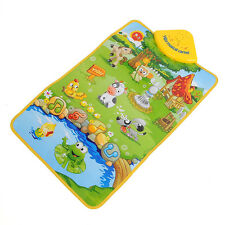 Hot Sale Musical Sound Farm Child Playing Mat Carpet
