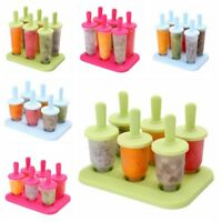 UK DIY 6 Cell Frozen Ice Cream Mould Popsicle Maker Lolly Mould Tray Pan Kitchen