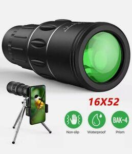 High Power HD Monocular Telescope 16x52 Binocular Tourism Spyglass Night Vision