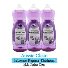 3x Multi Surface Cleaner Solution Lavender Fragrance Disinfectant Liquid 1L