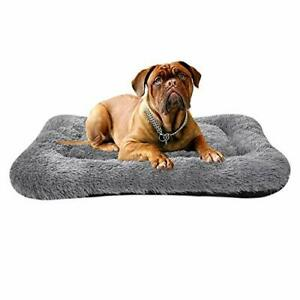 Poohoo Soft Plush Dog BedDog Crate Bed Pet Cushion Pet Pillow Bed WashableNon...