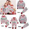 Hot Xmas Family Pajamas Set Adult Women Kids Christmas Sleepwear Nightwear Suit