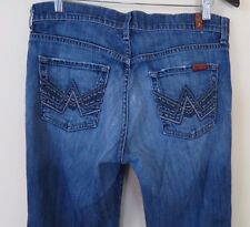 7 For All Mankind Distress 'A' Pocket Relaxed Button Fly Men's Jeans Size 30
